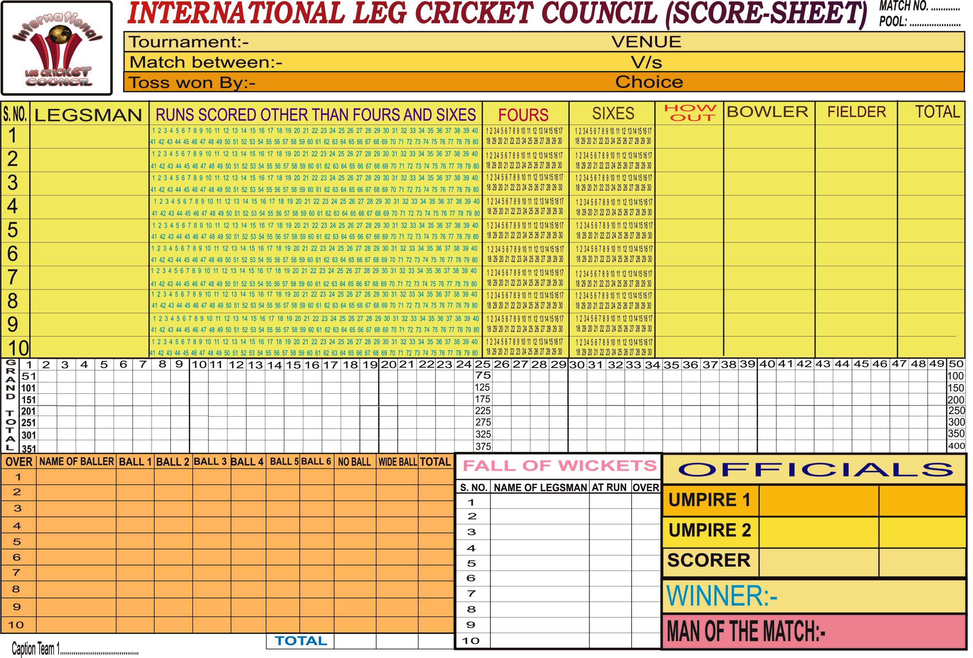 Downloads – Cricket Score Sheet